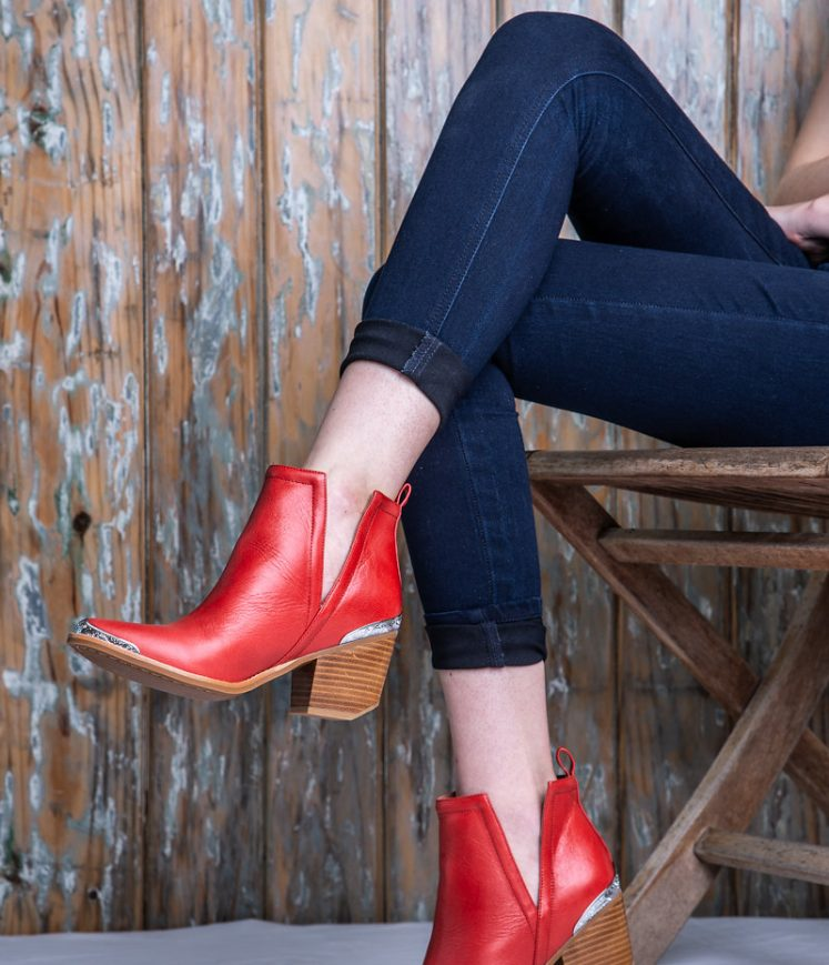 Cromwell Red Leather